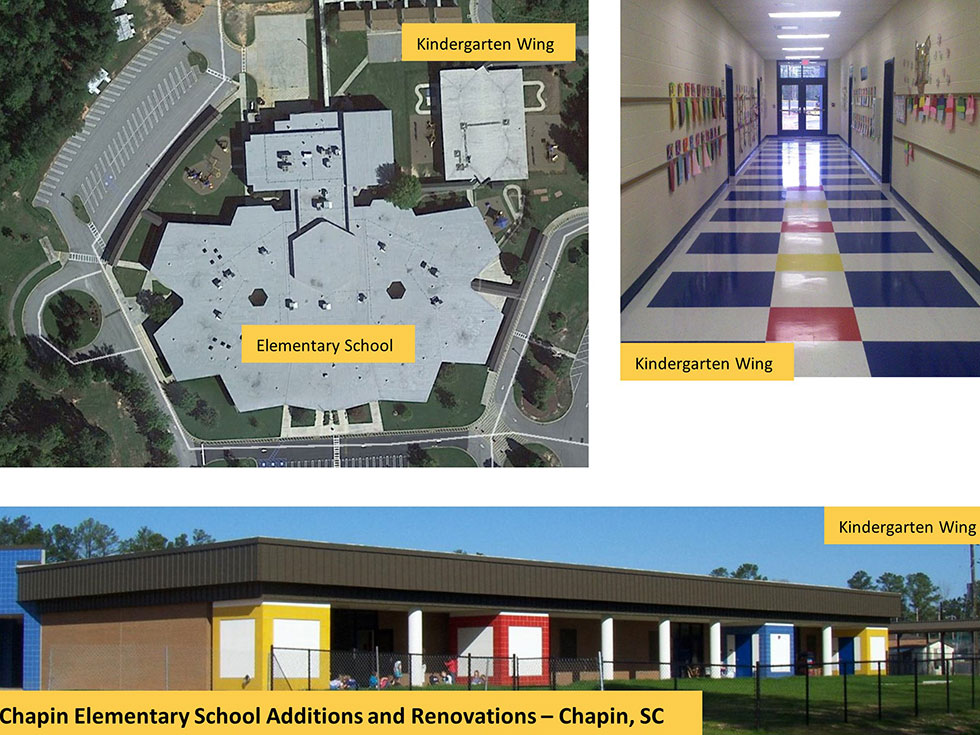 *Chapin Elementary School – Renovations and New Kindergarten Building (*Staff Experience with Other Firms)
