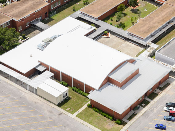 Aluminum Clad Modified Asphalt Roofs at Stewart Middle School