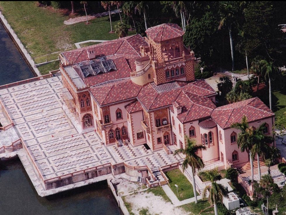 Ca d'Zan Concrete Clay Tile Roof