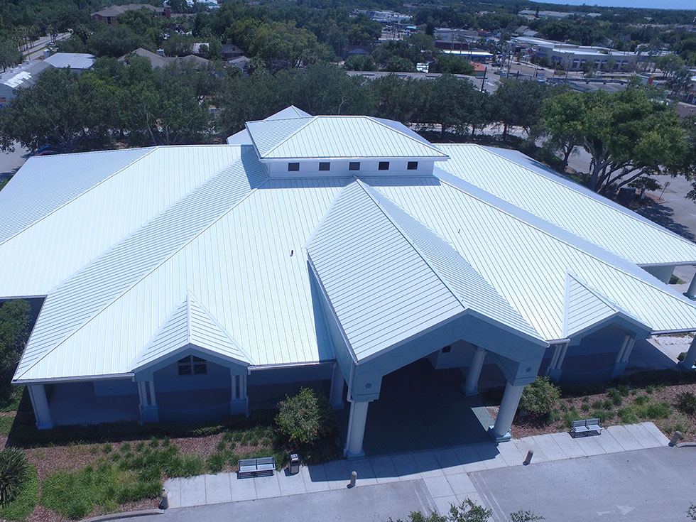 Metal Roof at Tarpon Springs Library