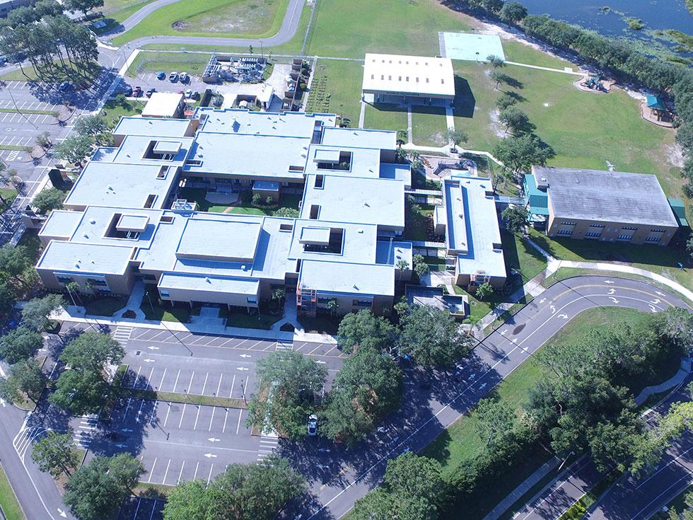 Modified Asphalt Roof on Hunters Green Elementary School