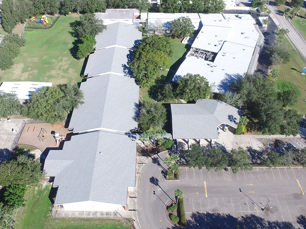 Shingle Roofs on Westgate Elementary